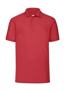 Tricou polo Fruit of the Loom 65/35 rosu