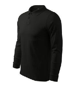 Tricou Polo Maneca Lunga Malfini Sigle J, negru - S