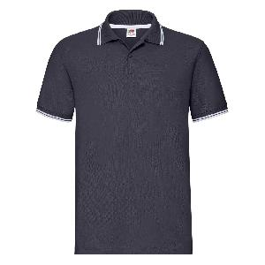 Tricou Polo Premium Tipped, Fruit of the Loom, Bleumarin