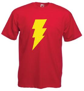 Tricou rosu imprimat Captain Marvel