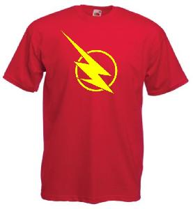 Tricou rosu imprimat Flash New