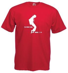 Tricou rosu imprimat Michael Jackson Thriller