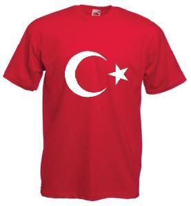 Tricou rosu imprimat Turcia