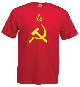 Tricou rosu imprimat URSS