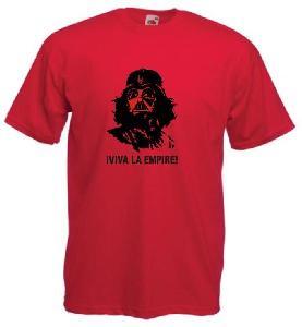 Tricou rosu imprimat Viva la Empire