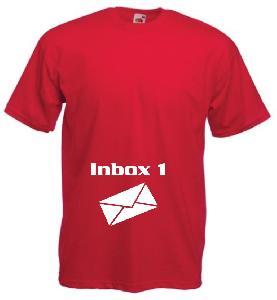Tricou rosu pentru gravide imprimat Inbox