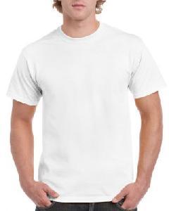Tricou Ultra Cotton, Gildan, Alb