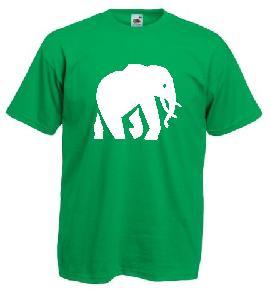 Tricou verde deschis imprimat Elefant
