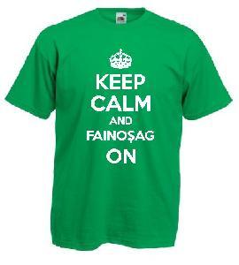 Tricou verde deschis, imprimat Fainosag On