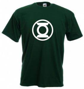 Tricou verde inchis imprimat Green Lantern Classic