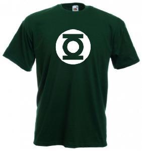 Tricou verde inchis imprimat Green Lantern